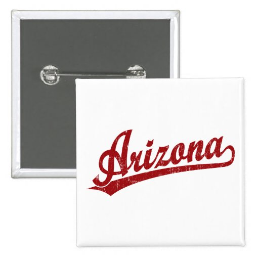 Arizona script logo in red pins