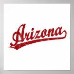 Arizona script logo in red print