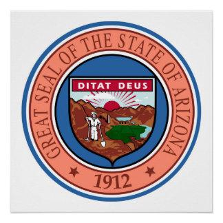 Arizona seal united states america flag symbol rep poster
