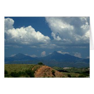 Arizona sky over Santa Rita Mountains in desert Card