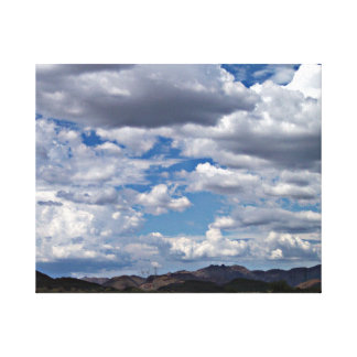 Arizona Sky with Cottony Clouds Canvas Print