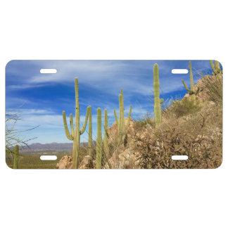 Arizona Sonoran Desert Photo License Plate