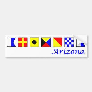 Arizona spelled in nautical flag alphabet bumper sticker