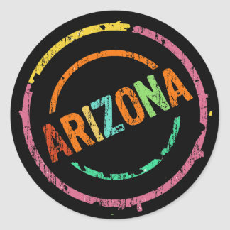 ARIZONA STAMP CLASSIC ROUND STICKER