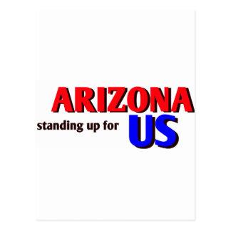 ARIZONA, standing up for US Postcard