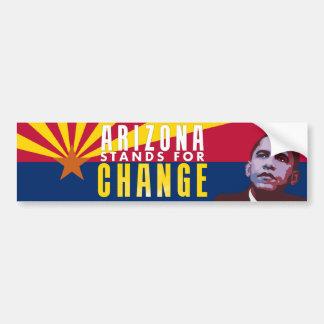 Arizona Stands for Change - Obama Bumper Sticker Car Bumper Sticker