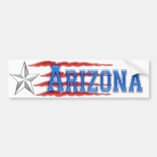 Arizona Star and Stripes Bumper Sticker