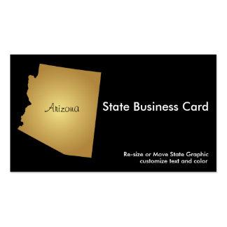 Arizona State Business Card Metallic Gold