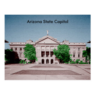 Arizona State Capitol Tinted Colorized Postcard