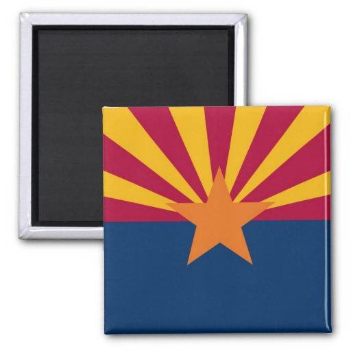 Arizona State Flag 2 Inch Square Magnet