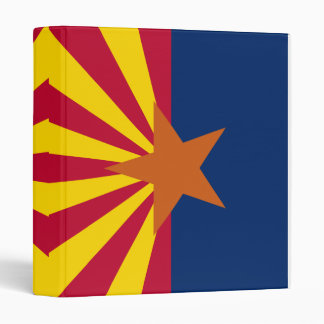 Arizona State Flag 3 Ring Binder