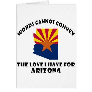 Arizona state flag and map designs card