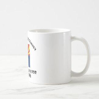 Arizona state flag and map designs coffee mug