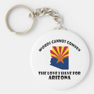 Arizona state flag and map designs keychain