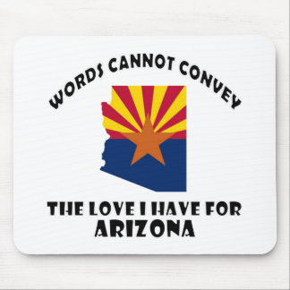 Arizona state flag and map designs mouse pad