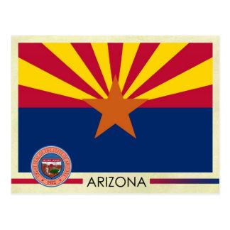 Arizona State Flag and Seal Postcard