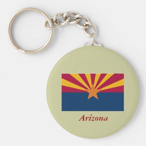 Arizona State Flag Basic Round Button Keychain