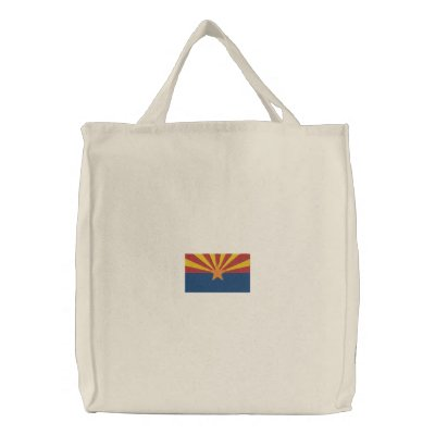 Arizona State Flag Canvas Bags