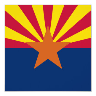 Arizona State Flag Card