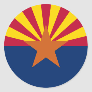 Arizona State Flag Classic Round Sticker