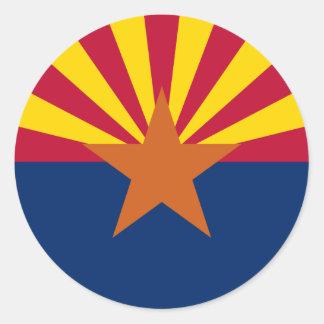 Arizona State Flag Classic Round Sticker
