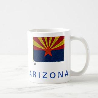 ARIZONA STATE FLAG CLASSIC WHITE COFFEE MUG