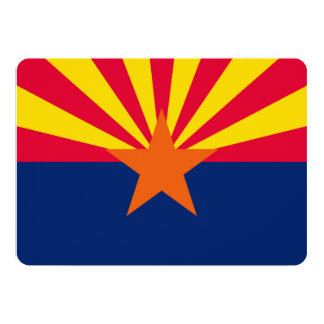 Arizona State Flag Design Decor Card