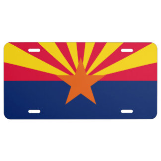 Arizona State Flag Design License Plate