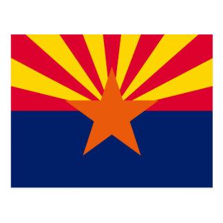 Arizona State Flag Design Postcard
