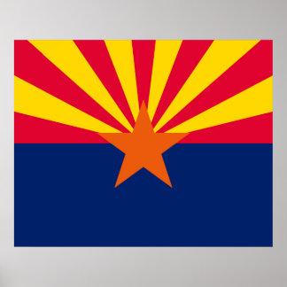 Arizona State Flag Design Poster