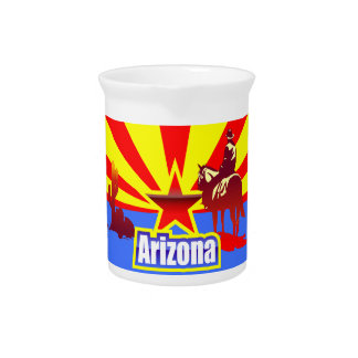 Arizona State Flag Drawing Drink Pitcher