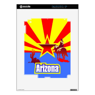 Arizona State Flag Drawing Skins For iPad 2