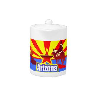Arizona State Flag Drawing Teapot