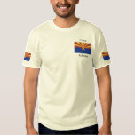 "Arizona State Flag Embroidered T-Shirt<br><div class=""desc"">Arizona&#39;s State Flag. Many products are very easy to modify or customize. You can add or change images and text, and change background colors. Simply click the &quot;Customize it&quot; button. Feel free to contact the store for design help if you need it - use the &quot;Send Message&quot; link on the...</div>"