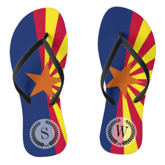 Arizona State Flag Flip Flops