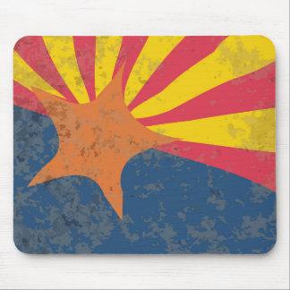 Arizona State Flag Grunge Mouse Pad