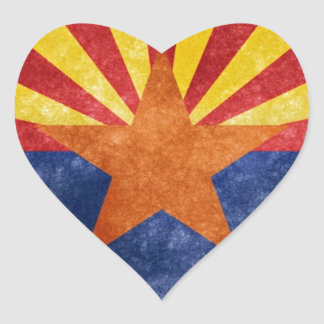 Arizona State Flag Heart Sticker