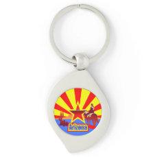 Arizona State Flag Keychain