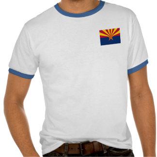 Arizona State Flag Mens Ringer T-shirt Tshirts