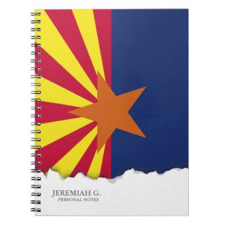 Arizona State Flag Notebook