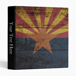 Arizona State Flag on Old Wood Grain Binder