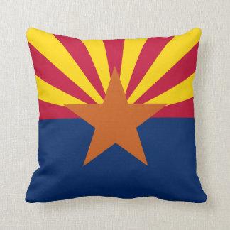 Arizona State Flag Throw Pillows