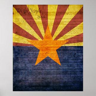 Arizona State Flag Poster