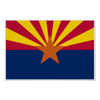 Arizona State Flag Poster