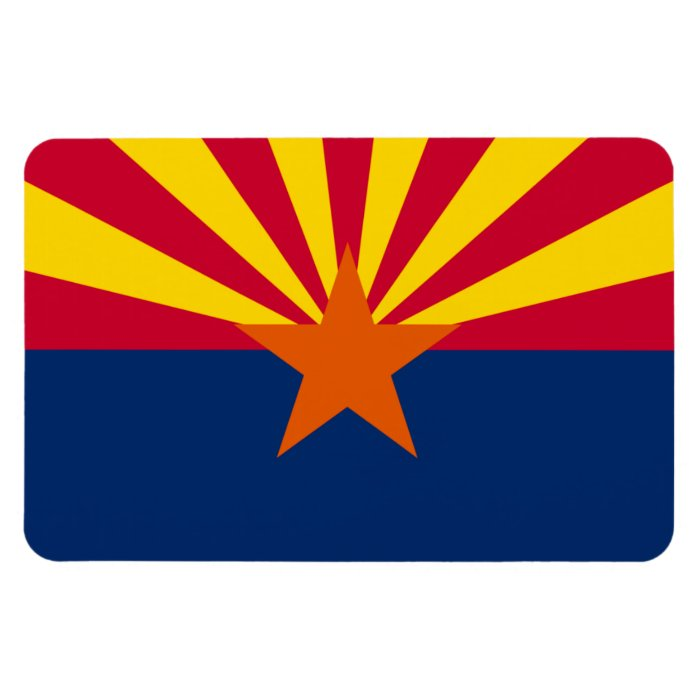 Arizona State Flag Rectangular Photo Magnet