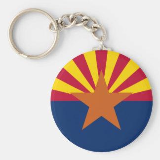 Arizona State Flag Round Keychain