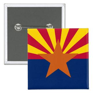 Arizona State Flag Square Button