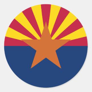 Arizona State Flag Sticker Round Sticker