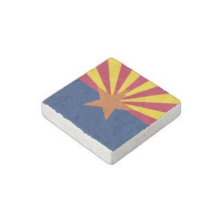 Arizona State Flag Stone Magnet