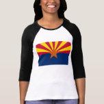 Arizona State Flag T-shirt at Zazzle